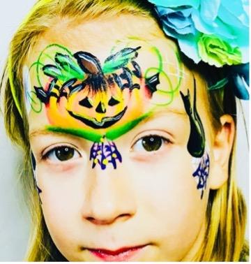 Skelet Halloween ansigtsmaling  fra colorfullaces
