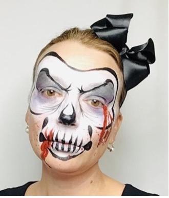 Skelet Halloween ansigtsmaling 2021 fra colorfullaces